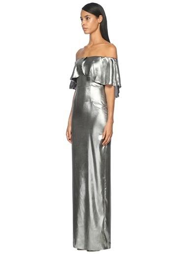 Kayık Yaka Uzun Abiye Elbise-Abs